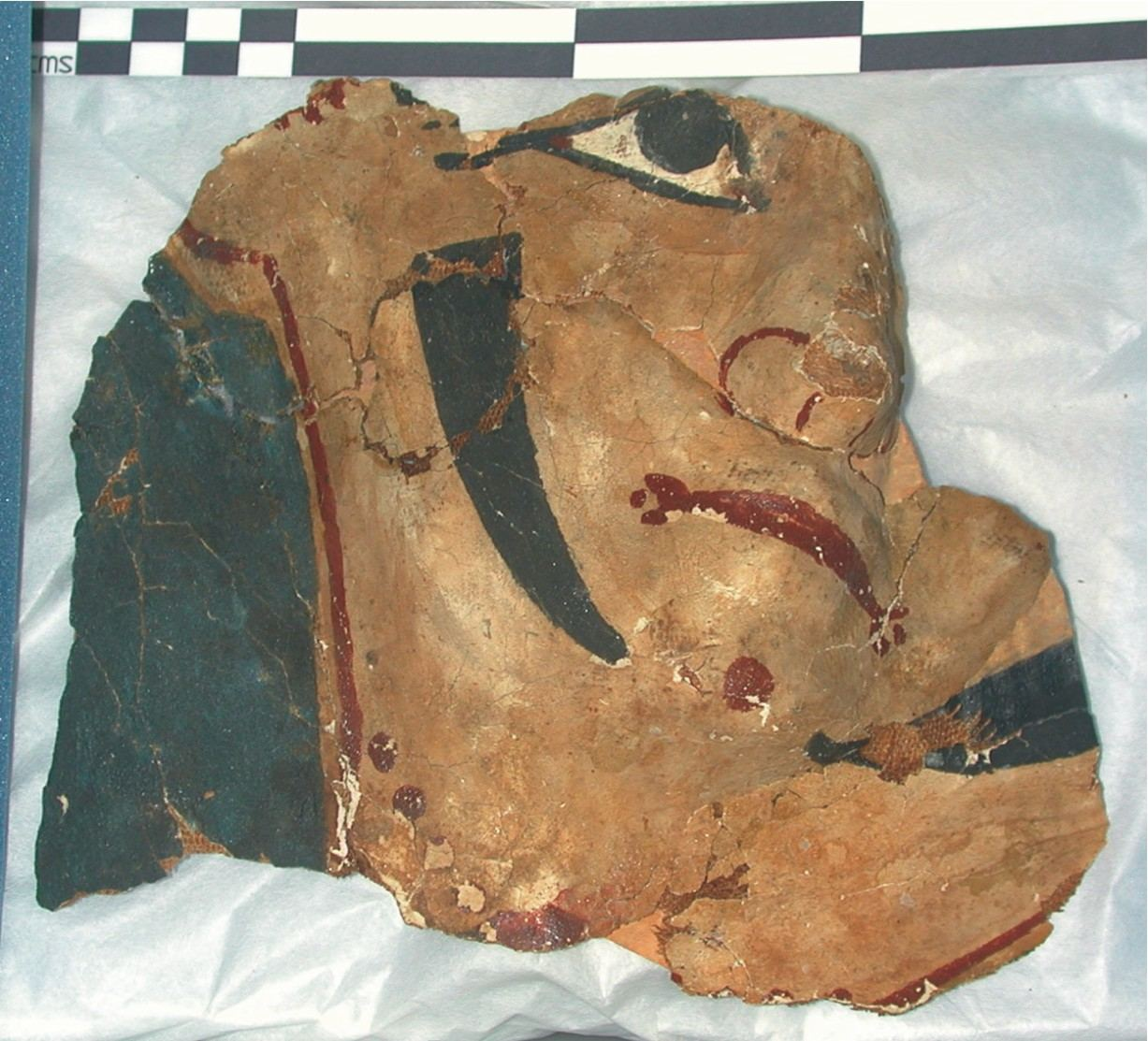Image for: Fragment of a cartonnage mask