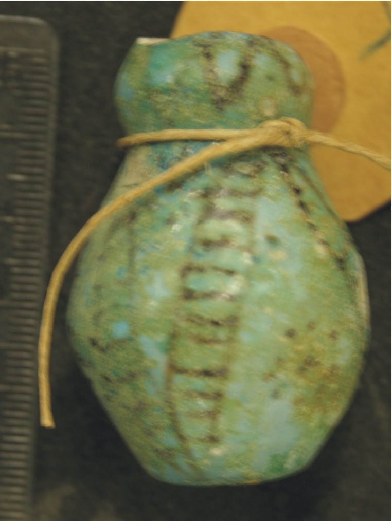 Image for: Faience object, possibly a votive vessel