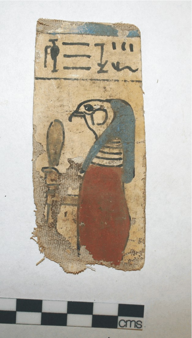 Image for: Fragment of a cartonnage mummy covering