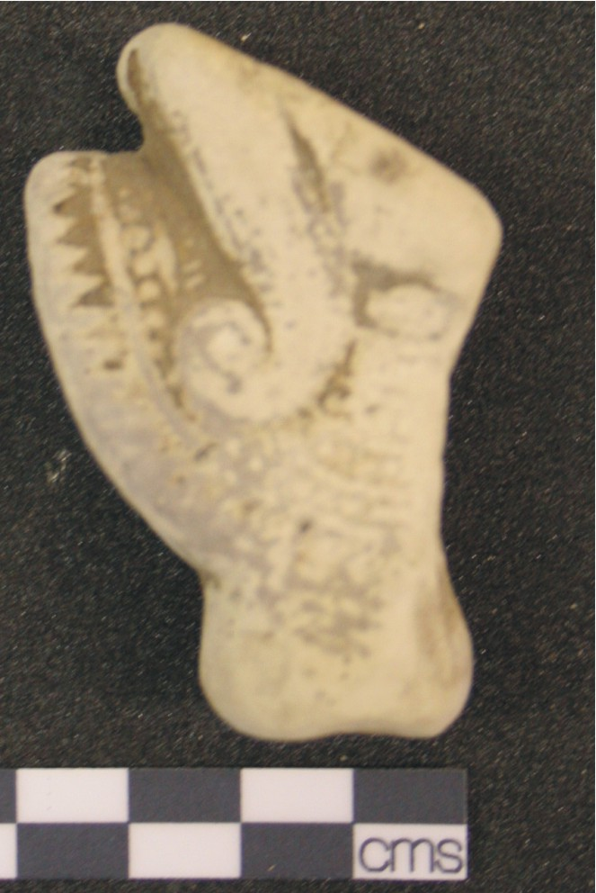 Image for: Fragment of a faience head