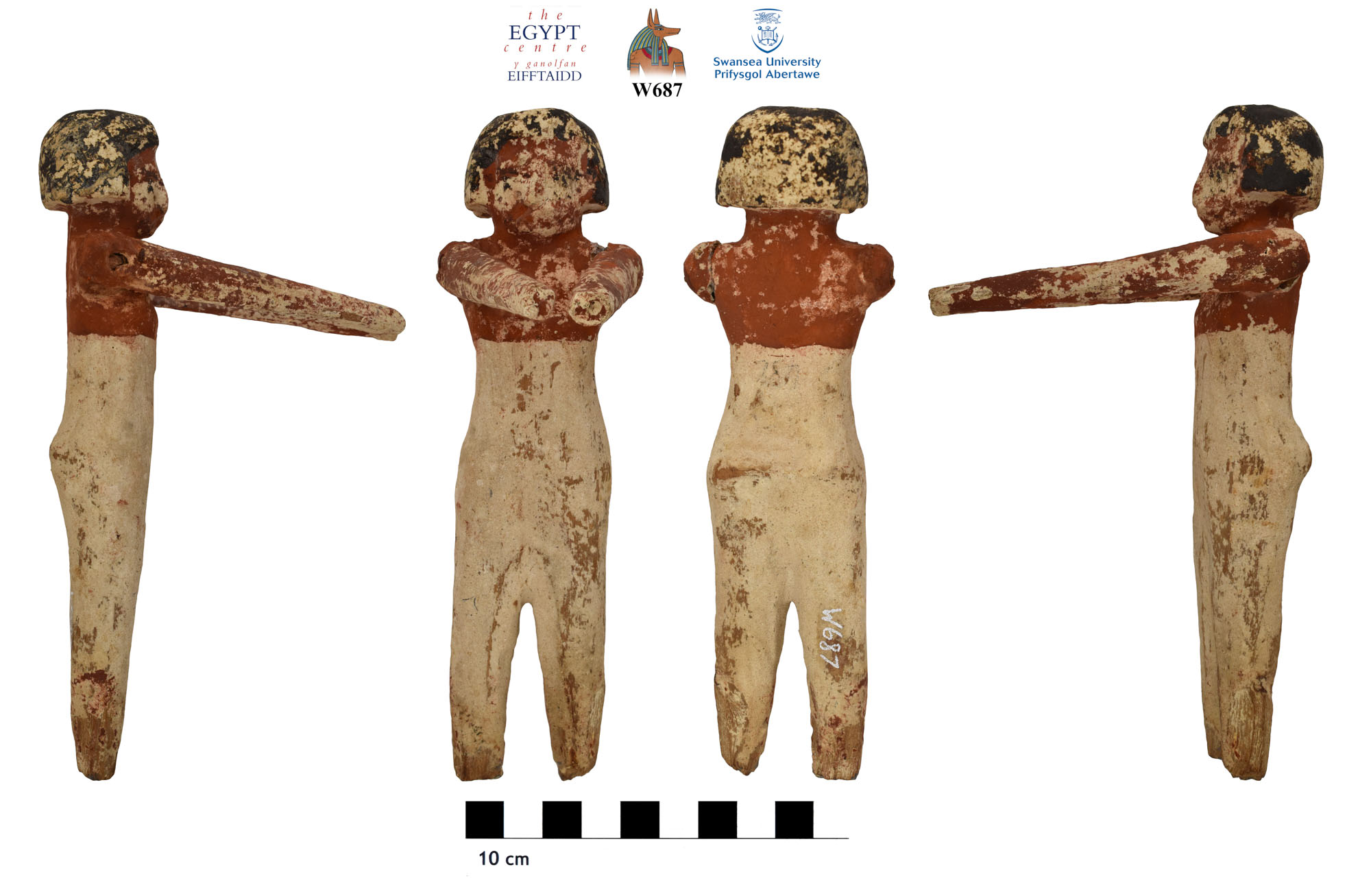 Image for: Wooden funerary figure from Beni Hasan