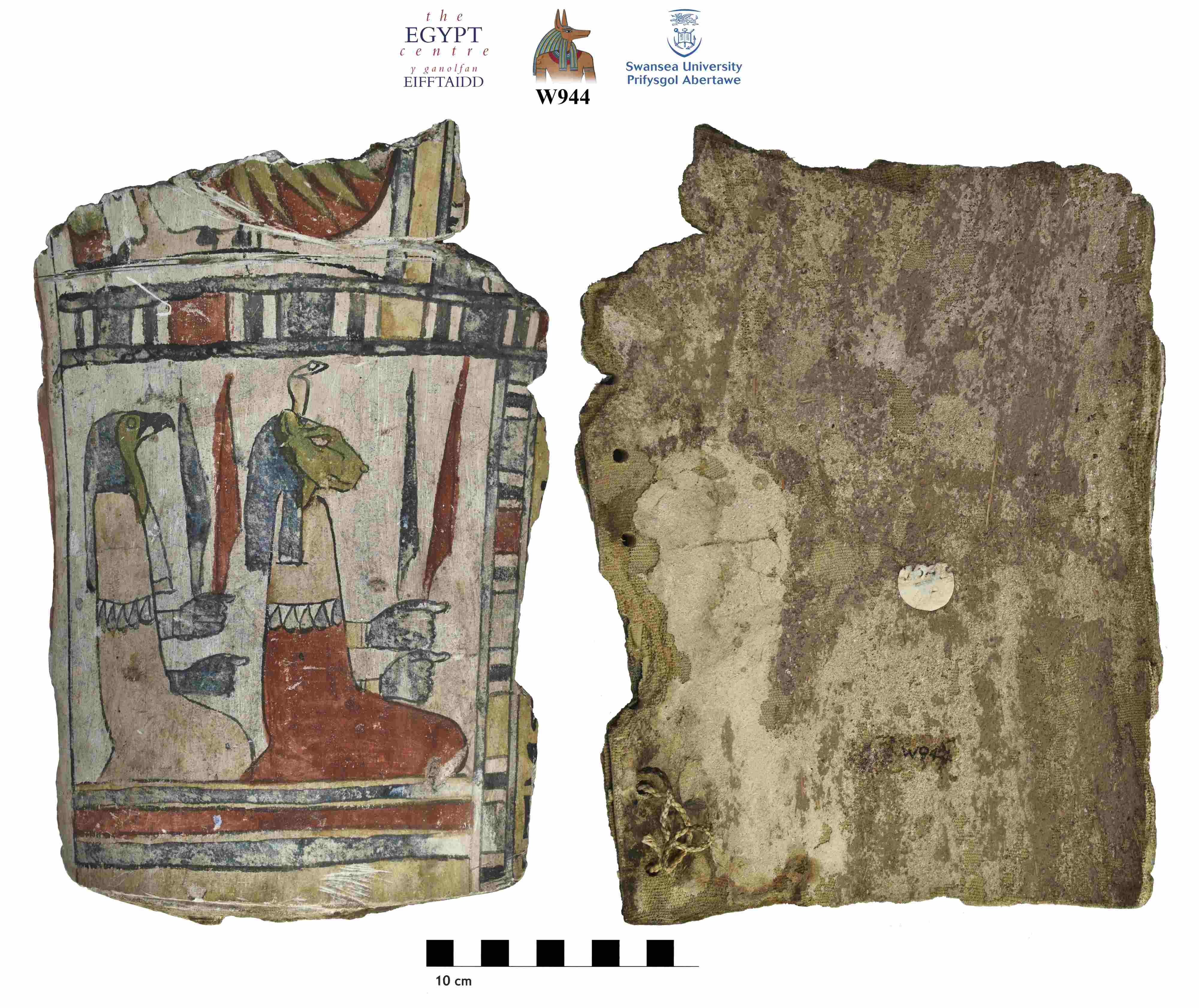 Image for: Fragment of a cartonnage coffin